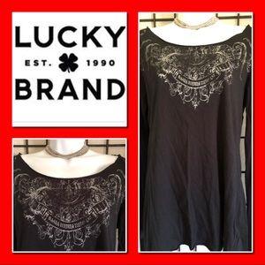 EUC Edgy Lucky Brand Long Sleeve T Shirt.